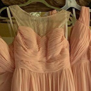 Azazie bridesmaids dress pearl pink size 4